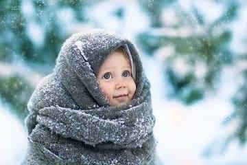 العناية بالطفل فى الشتاء